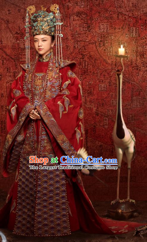 Empress of the Ming Dynasty Chinese Ancient Drama Queen Sun Ruowei Tang Wei Replica Costumes and Headpiece Complete Set