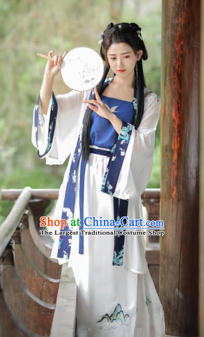 Traditional Chinese Song Dynasty Historical Costumes Ancient Patrician Young Lady Dress for Women