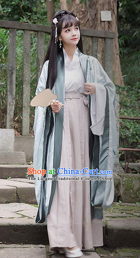 Traditional Chinese Ancient Patrician Lady Hanfu Dress Zhou Dynasty Princess Historical Costumes for Women