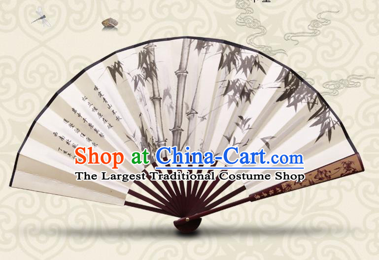 Chinese Hand Painting Bamboo Fan Traditional Classical Dance Accordion Fans Folding Fan