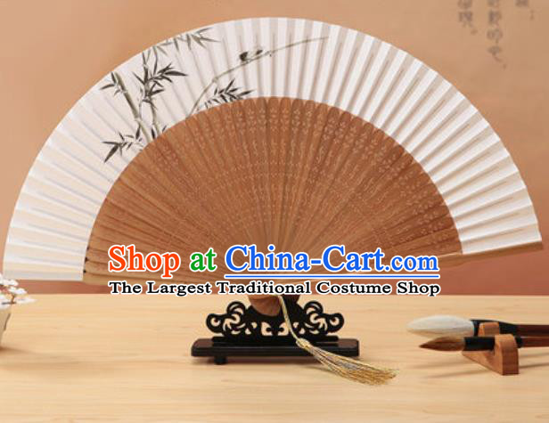 Chinese Traditional Hand Ink Painting Bamboo Paper Fan Classical Dance Accordion Bamboo Fans Folding Fan