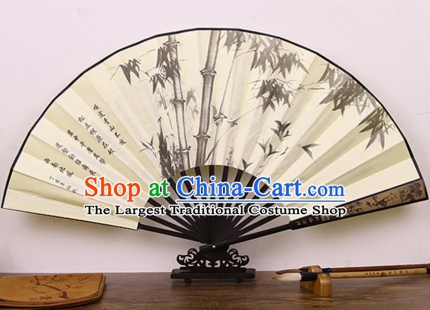 Handmade Chinese Printing Bamboo Silk Fan Traditional Classical Dance Accordion Fans Folding Fan