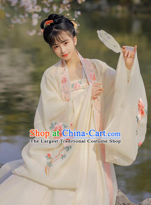 Chinese Traditional Tang Dynasty Court Lady Historical Costumes Ancient Imperial Consort Garment Apparels Hanfu Dress