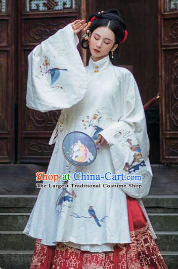 Chinese Traditional Ming Dynasty Patrician Female Hanfu Dress Apparels Ancient Royal Princess Historical Costumes for Women