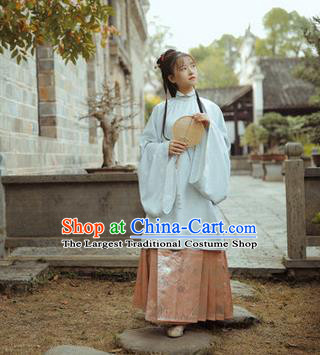 Chinese Traditional Ming Dynasty Aristocratic Lady Apparels Historical Costumes Ancient Princess Hanfu Dress Nobility Female Garment Blouse and Skirt
