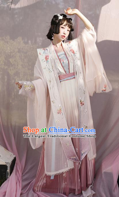 Chinese Ancient Noble Infanta Hanfu Dress Nobility Lady Garment Traditional Song Dynasty Royal Princess Historical Costumes Complete Set