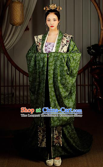 Chinese Ancient Song Dynasty Imperial Consort Hanfu Dress Traditional Garment Court Woman Historical Costumes Complete Set