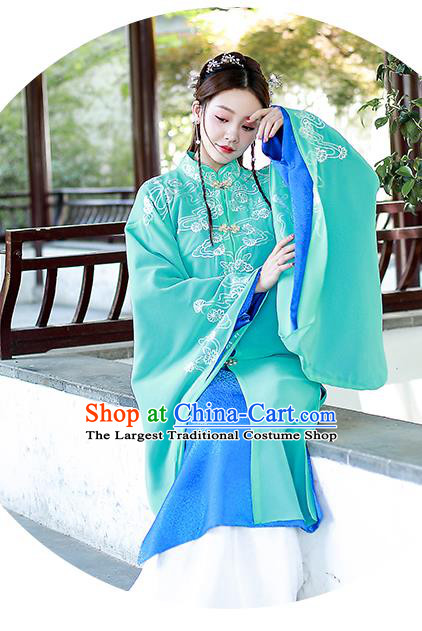Chinese Ming Dynasty Female Swordsman Historical Costumes Traditional Apparels Ancient Drama Heroine Hanfu Dress Complete Set