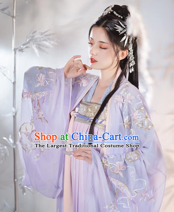 Chinese Ancient Noble Female Hanfu Dress Apparels Traditional Song Dynasty Patrician Lady Historical Costumes for Women