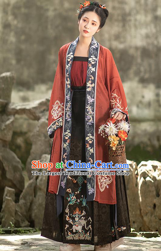 Ancient China Court Woman Hanfu Dress Traditional Song Dynasty Imperial Consort Historical Clothing