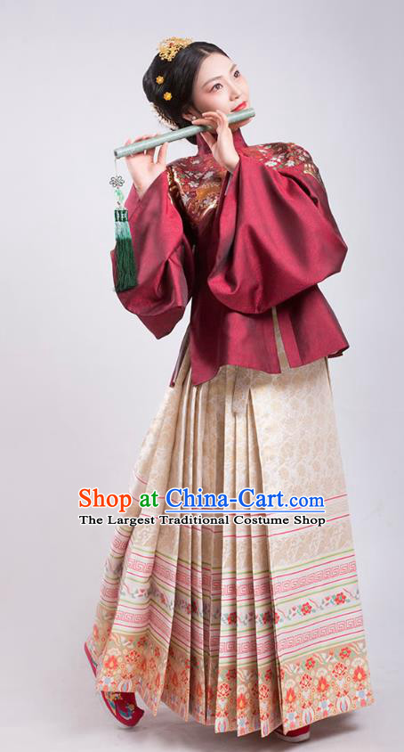 China Ancient Imperial Female Dress Traditional Court Hanfu Apparels Ming Dynasty Empress Historical Clothing