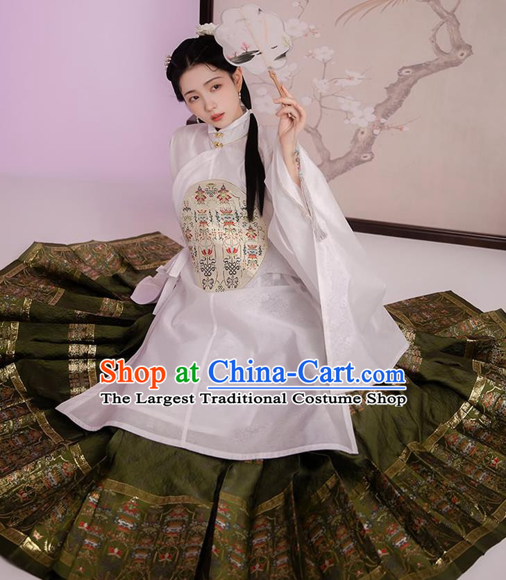 Traditional China Ming Dynasty Noble Lady Historical Clothing Ancient Patrician Woman Hanfu Dress Full Set