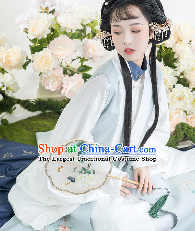 China Traditional Ming Dynasty Noble Princess Historical Clothing Ancient Patrician Female Embroidered Hanfu Dress