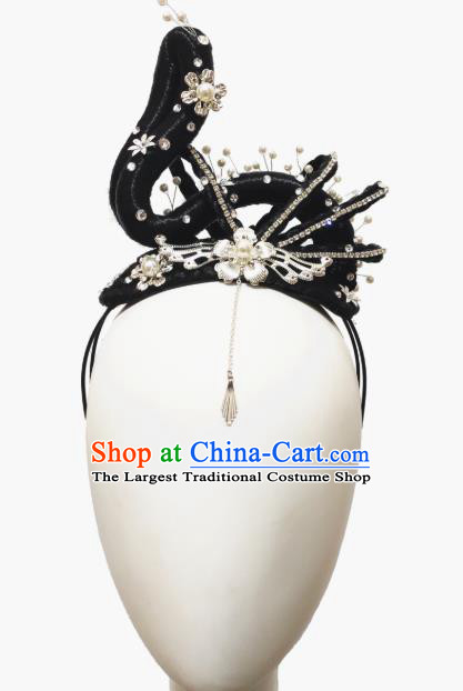 Traditional China Handmade Court Dance Wig Chignon Classical Dance Stage Show Hair Accessories Umbrella Dance Headwear