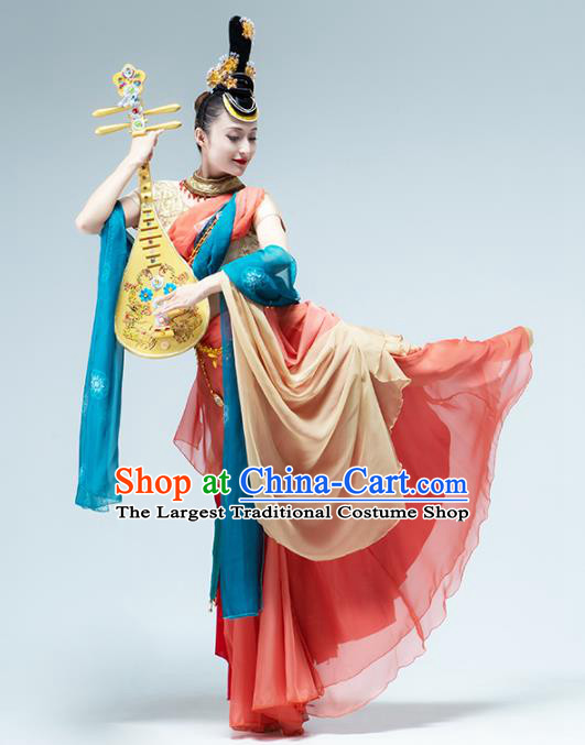 Traditional China Flying Apsaras Group Dance Costume Classical Dance Stage Show Outfits