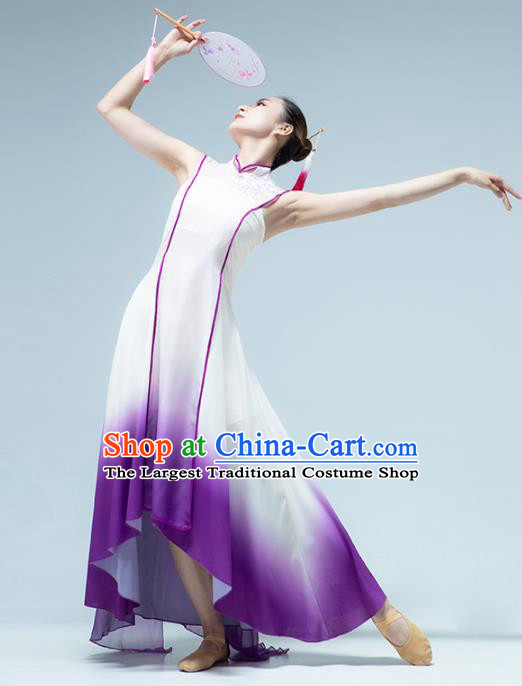 Traditional China Woman Fan Dance Costume Classical Dance Stage Show Dress
