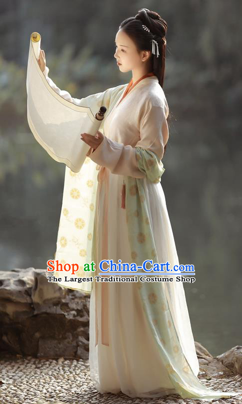 China Ancient Royal Princess Hanfu Dress Costumes Traditional Song Dynasty Palace Lady Historical Clothing Full Set