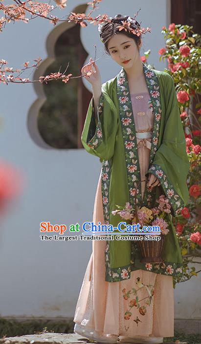 China Traditional Song Dynasty Nobility Lady Dress Clothing Ancient Royal Princess Embroidered Hanfu Costumes