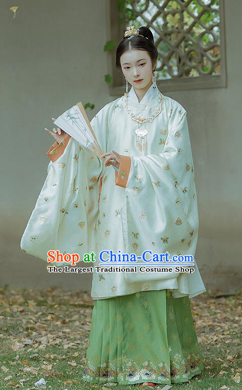 China Traditional Hanfu Dress Ming Dynasty Royal Countess Historical Clothing Ancient Nobility Lady Costumes