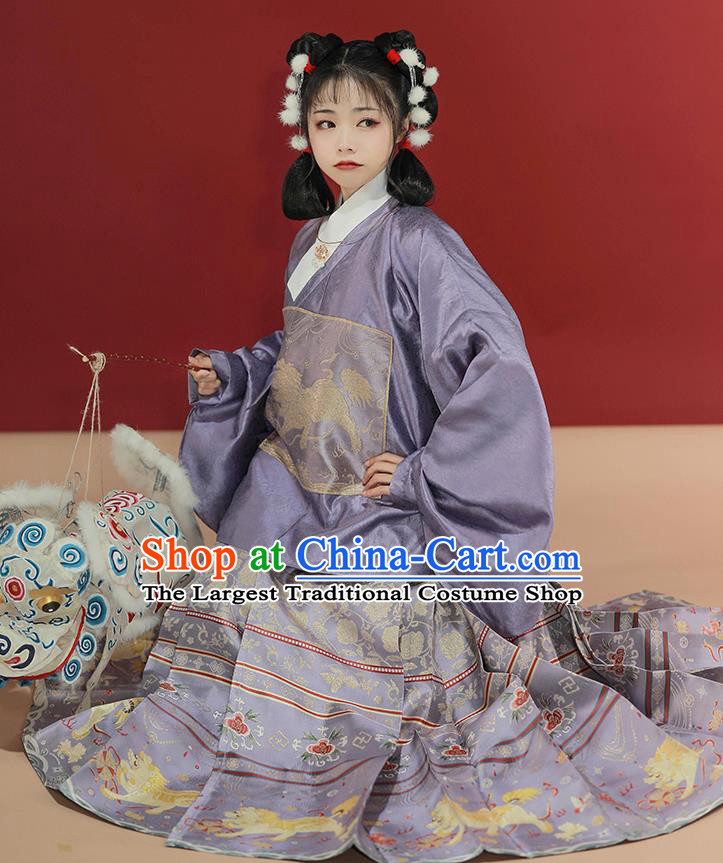 China Ancient Ming Dynasty Royal Princess Historical Costume Traditional Hanfu Dress Clothing for Noble Lady