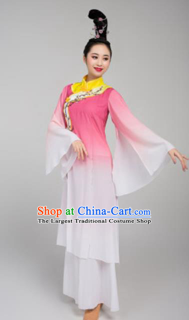 China Stage Performance Clothing Classical Dance Costume Traditional Fan Dance Pink Dress Outfits