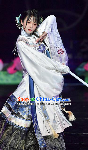 China Traditional Ming Dynasty Princess Hanfu Clothing Ancient Nobility Beauty Embroidered Costumes Full Set
