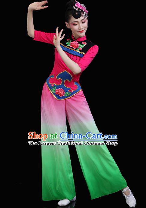 China Yangko Dance Fan Dance Clothing Traditional Folk Dance Stage Performance Outfits