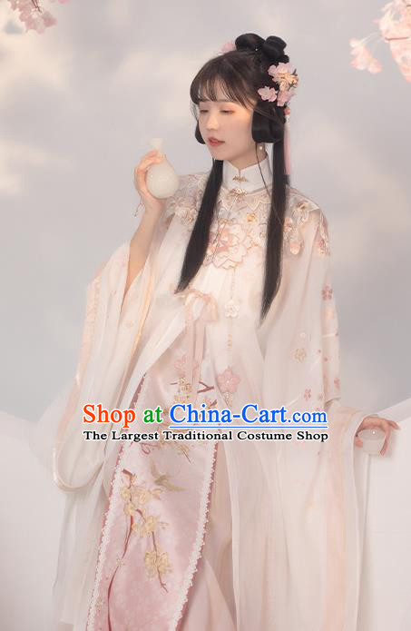 China Ancient Princess Embroidered Hanfu Dress Traditional Ming Dynasty Historical Costumes for Nobility Lady